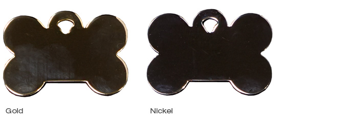 Gold & Nickel Tags Bone