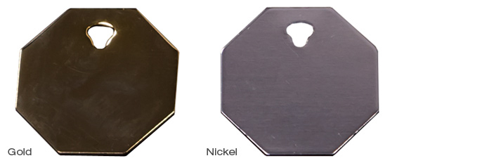 Premium Gold and Nickel Octagon
