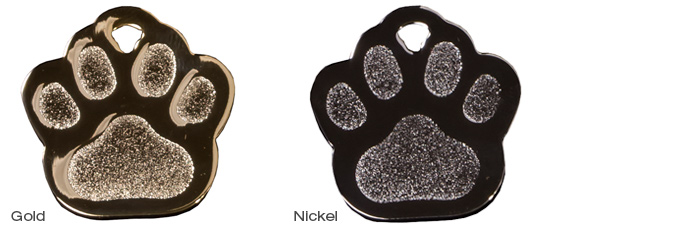 Gold and Nickel Paw Prints