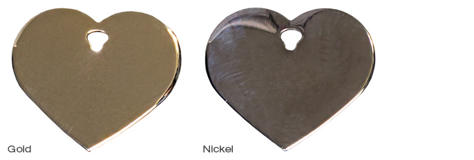 Gold and Nickel Heart
