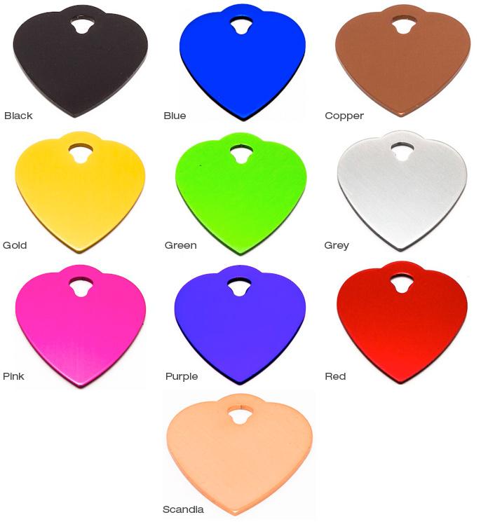 Standard Bright Dip Tags - Heart Small